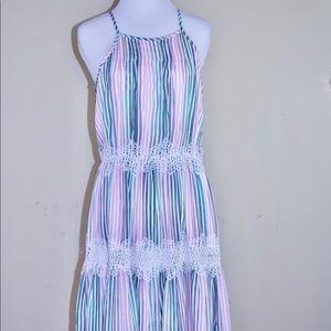 Catherine Malandrino Lace Trim Knee Length Dress